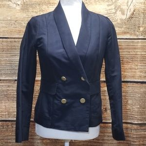 10 Crosby Derek Lam Navy Blazer Gold Button Size 6